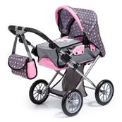 Bayer Wózek głęboki dla lalek City Star szaro różowy