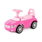 """Polesie 84477 Samochód-jeździk """"SuperCar"""" Nr1 z sygnałem dźwiękowym (różowy)"""