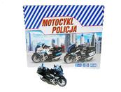 Motocykl Policja 13cm z napędem, światło, dźwięk M2217U/DB HIPO