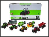 Traktor z przyczepą 23cm 4 wzory SQ90222-4 HIPO cena za 1 szt