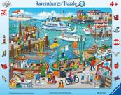 Puzzle 24el ramkowe Dzień w porcie 061525 RAVENSBURGER