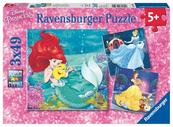 Puzzle 3x49 Wieczór Księżniczek Disney 093502 RAVENSBURGER