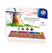 Kredki akwarelowe z drewna cedrowego Astra Prestige 48 kolory