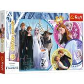 Puzzle 100el brokatowe W blasku miłości. Frozen 2 14817 Trefl
