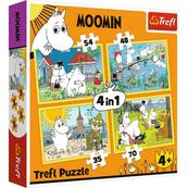 Puzzle 4w1 Wesoły dzień Muminków 34368 Trefl