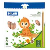 Kredki ołówkowe sześciokątne natural 24 kolory 07221224FSC MILAN cena za 1szt.