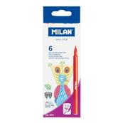 Flamastry z cienką końcowką 6 kolorów 06F6 MILAN