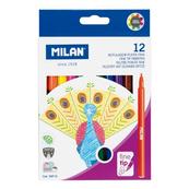Flamastry z cienką końcowką 12 kolorów 06F12 MILAN