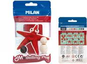 Modelina Air-Dry 100g czerwona 9154130 MILAN