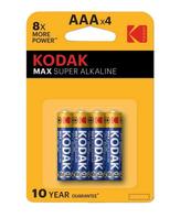 Bateria KODAK LR03 alkaiczna max AAA 4szt/blister p10