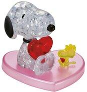 Crystal puzzle Snoopy z sercem