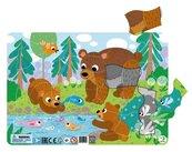Puzzle ramkowe 21 Niedźwiadki
