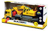 Builder Ciężarówka + koparka św.dźw.w pudełku 02425 DROMADER