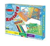 Szablony kształt - zestaw do rysowania w pudełku 898987