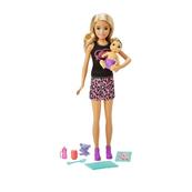 Barbie Opiekunka Lalka + bobas + akcesoria GRP13 GRP10 MATTEL
