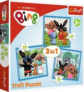 Puzzle 3w1 20,36,50el Zabawy z przyjaciółmi. Bing 34851 Trefl