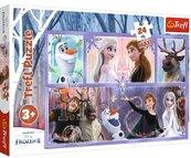 Puzzle 24el Maxi Świat pełen magii. Kraina Lodu. Frozen 2 14345 Trefl