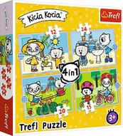 Puzzle 4w1 Dzień Kici Koci. Rodzina Kicia Kocia 34372 TREFL