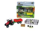 Traktor z przyczepą + akcesoria światło, dźwięk