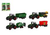 Traktor z przyczepami 16cm 2 wzory