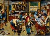 Puzzle 1000 Wypłata dziesięciny, Brueghe, 1615