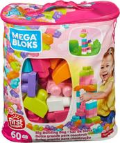MEGA BLOKS First Builders Klocki Maxi różowe 60el DCH54 MATTEL