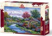 Puzzle 500 Piękna chatka nad rzeką
