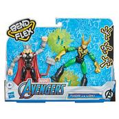 Avengers Figurki Bend i Flex Thor vs Loki F0245