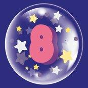 Balon 45cm dla dziewczynki cyfra 8 TUBAN