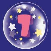 Balon 45cm dla dziewczynki cyfra 7 TUBAN