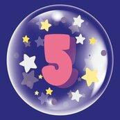 Balon 45cm dla dziewczynki cyfra 5 TUBAN