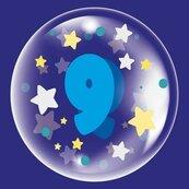 Balon 45cm dla chłopca cyfra 9 TUBAN