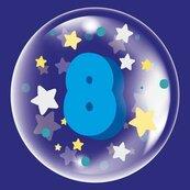 Balon 45cm dla chłopca cyfra 8 TUBAN