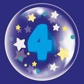 Balon 45cm dla chłopca cyfra 4 TUBAN
