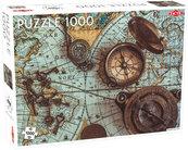 Puzzle Mapa morza z kompasem 1000