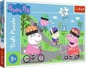 Puzzle 24el Maxi Aktywny dzień Świnki Peppy. Peppa Pig 14330 Trefl