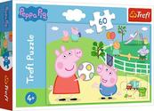 Puzzle 60el Zabawy w gronie przyjaciół Świnka Peppa. Peppa Pig 17356 Trefl