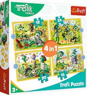 Puzzle 4w1 Wspólne zabawy Treflików. Rodzina Treflików 34358 Trefl