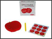 Tablica magnetyczna Jabłko z kulkami 12x12x2,4cm QH931