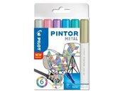 Marker permanentny Pintor Metal 6 kolorów PILOT