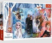 Puzzle 160 Chcę uwierzyć snom Frozen TREFL