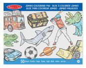 MELISSA Blok z kolorowankami Jumbo Zwierzęta, pojazdy 14226