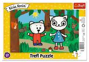 Puzzle ramkowe 15el Kicia Kocia w lesie Trefl
