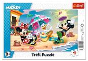Puzzle ramkowe 15el Zabawy na plaży Trefl