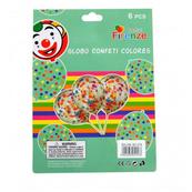 Zestaw balonów transparentnych z kolorowym konfetti 30cm 6 szt. BCS-576