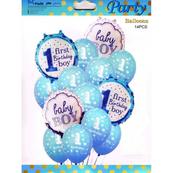 Zestaw balonów Baby Boy/Girl First Birthday, 30-46cm, 14 szt. BCS-587