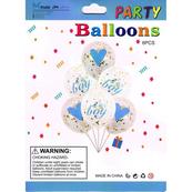 Zestaw balonów Girl ze złotym brokatem, 30cm, 6 szt. BSC-631