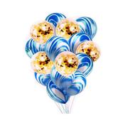 Zestaw balonów niebieskie ze złotym konfetti 30cm, 15 szt. BCS-600