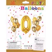 """Zestaw balonów, cyfra """"0"""", wys. 30-60cm, 16 szt. BSC-538-0"""