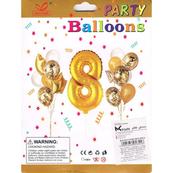 """Zestaw balonów, cyfra """"8"""", wys. 30-60cm, 16 szt. BSC-538-8"""